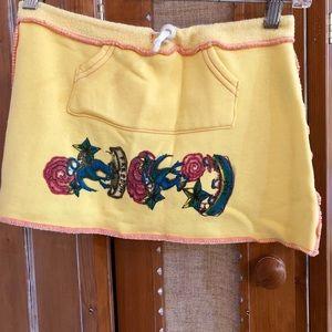 2B Free Yellow Mini Skirt